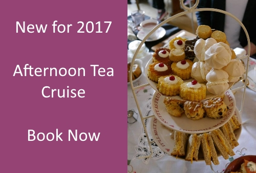 Enjoy afternoon tea whilst cruising the Edinburgh canal